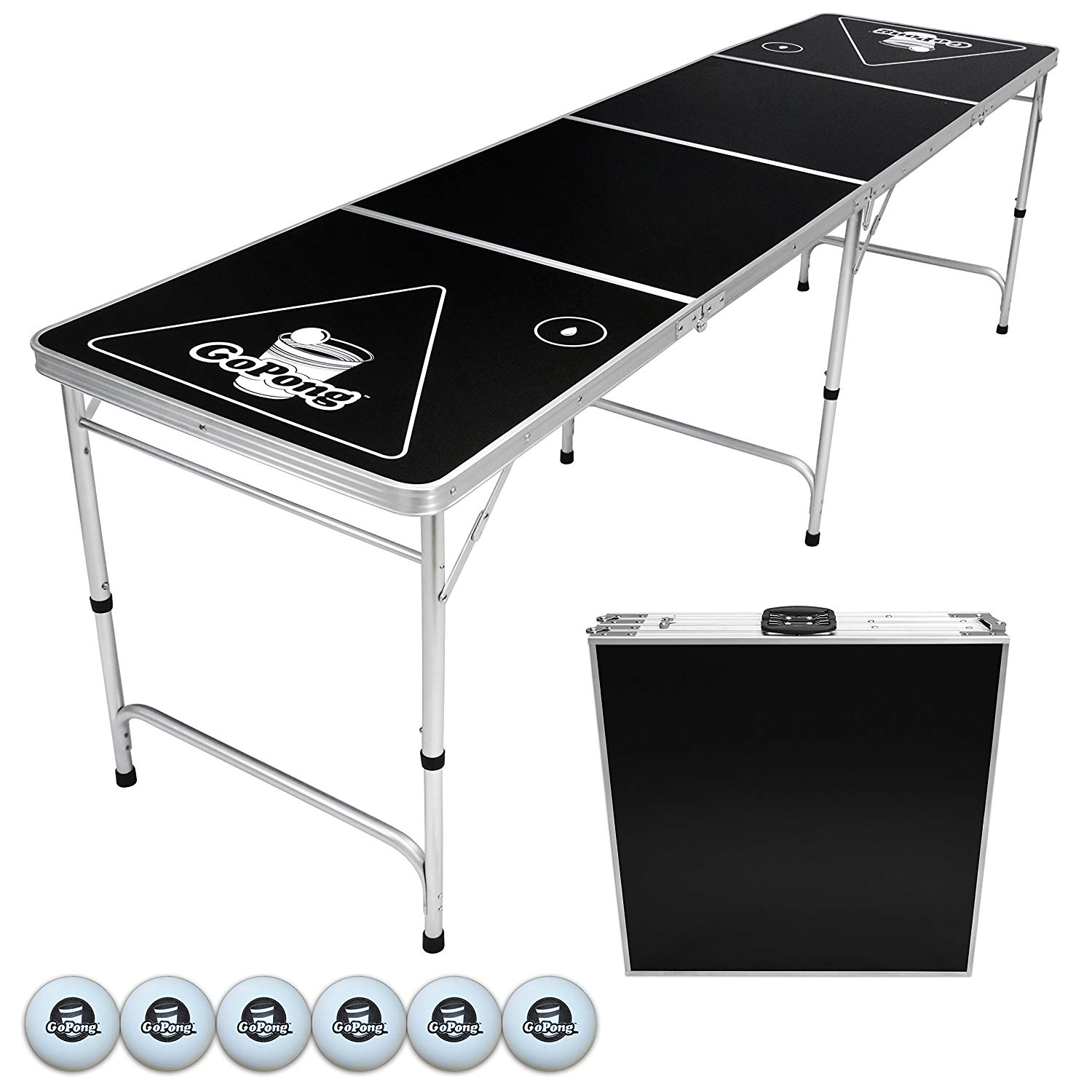 Best Cheap Fold-Up Beer Pong Table - GoPong 8-Foot Portable Beer Pong / Tailgate Table Review