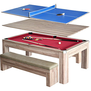 Hathaway Newport 2 Piece 7u2032 Pool Table Dining Set Review