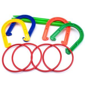 K-Roo Sports Plastic Horseshoe and Ring Toss Game Set
