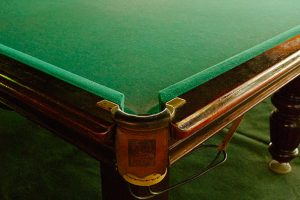 billiard cloth closeup