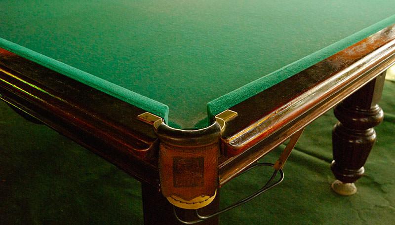 billiard cloth closeup