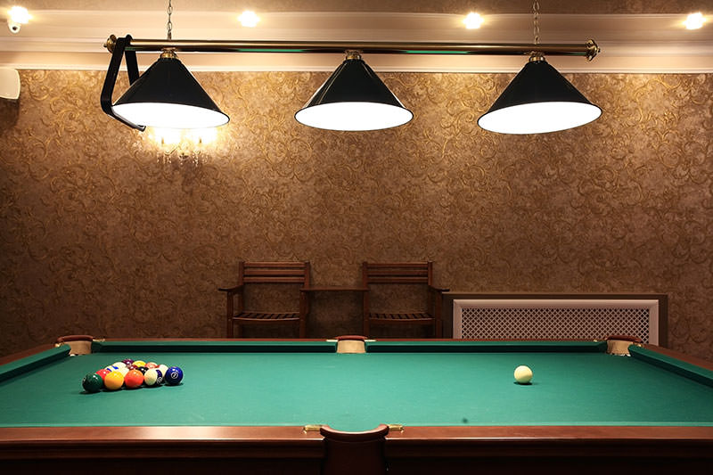 Astounding Create The Perfect Pool Hall Look At Home With A Cool Pool Home Interior And Landscaping Spoatsignezvosmurscom