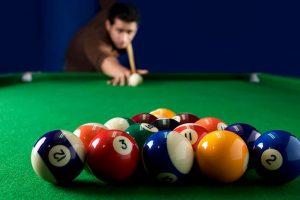 billiards break shot