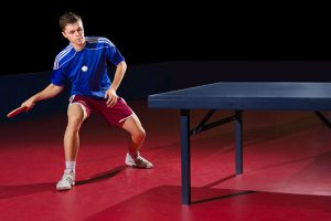 guy playing ping pong