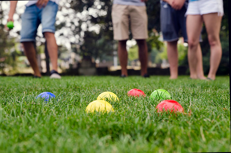 people playing bocce